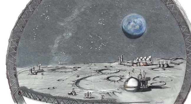 Kasino Berbentuk Bulan Las Vegas Dengan Permukaan Bulan Direncanakan